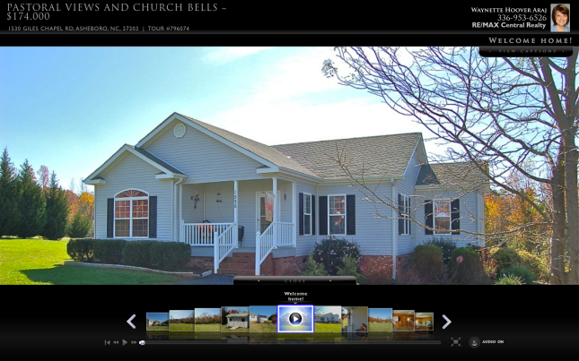 Waynette's virtual tour of Giles Chapel in Asheboro Real Estate