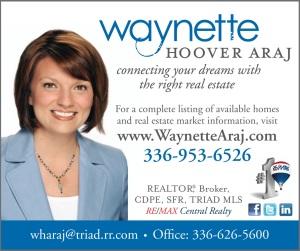 Waynette Araj ReMax Real Estate Asheboro NC