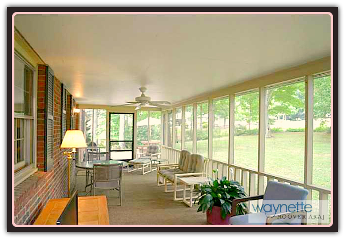 Asheboro NC Home for Sale | 401 Pinewood Rd | Screened Porch