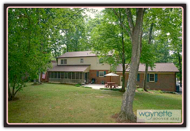 Asheboro NC Home for Sale | 401 Pinewood Rd | Backyard view