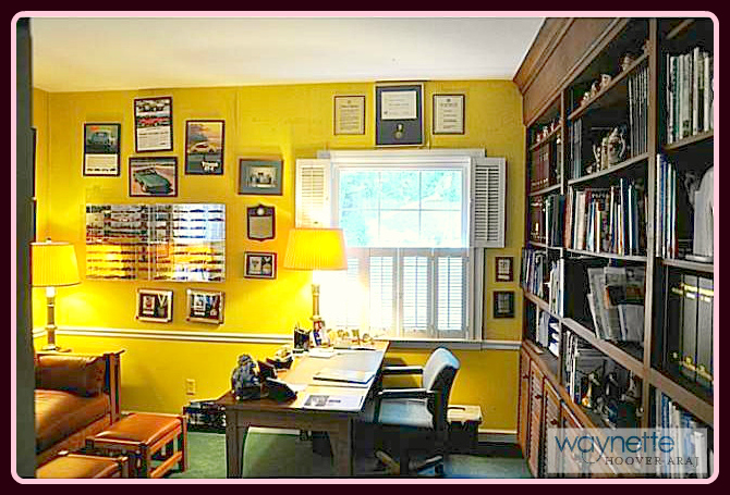 Home in Asheboro NC | 1167 Westover Terrace | This office is located on the main floor