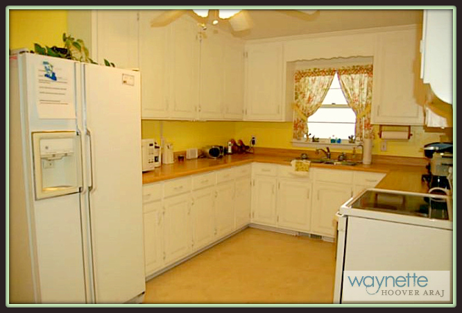Ramseur NC Home for Sale   377 Curtis St., Ramseur   The bright kitchen- lots of cabinets and counter space