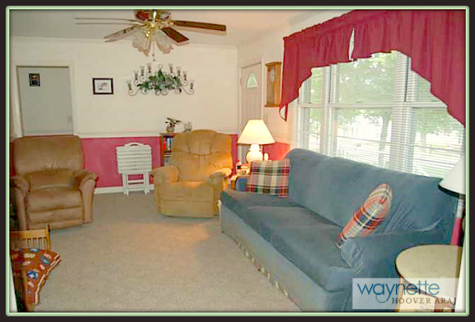 Ramseur NC Home for Sale   377 Curtis St., Ramseur   Cozy living room for entertaining friends and guests