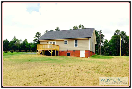 Randolph County Home for Sale - 1973 Burney Rd - Back view