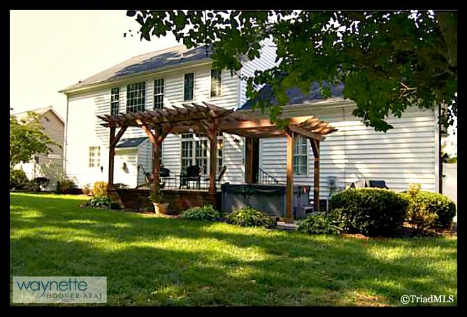 Randleman NC Home for Sale | 2968 Kamerin St | Back Patio