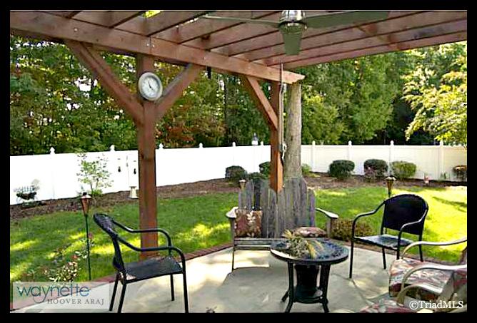 Randleman NC Home for Sale | 2968 Kamerin St | Outdoor Living